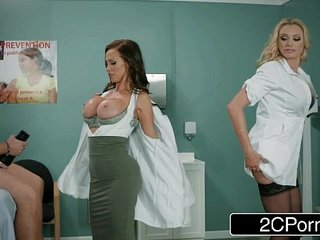 Dick Stuck In Fleshlight - Doctors Briana Banks & Nikki Benz Give Hand