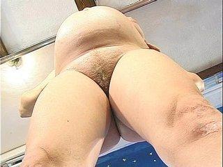 Gravid Woman Pissing Toilet