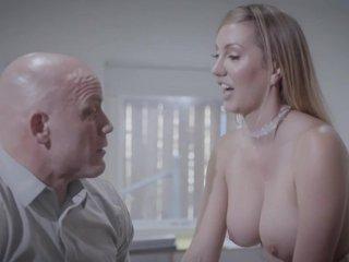 Bald-headed businessman fucks his gorgeous secretary