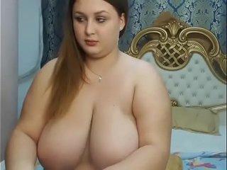 Huge tits chubby live strip show